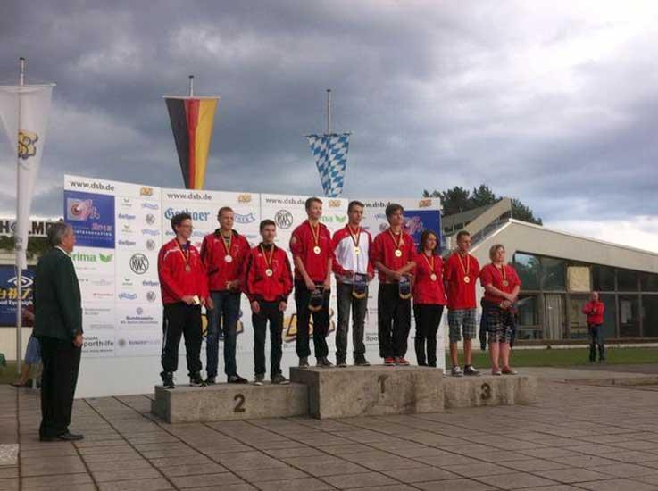 Deutscher Meister 2015 mit der Mannschaft in der Disziplin KK-Sportpistole - Patrick Kühne von der SGI Fürstenwalde/Spree