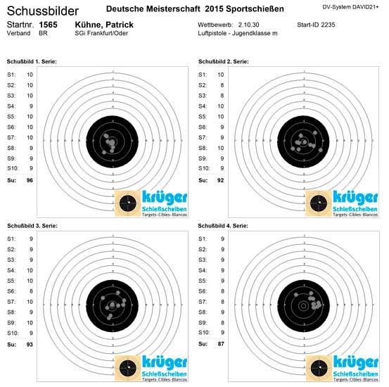 DM 2015 München Luftpistole - Patrick Kühne von der SGI Fürstenwalde/Spree