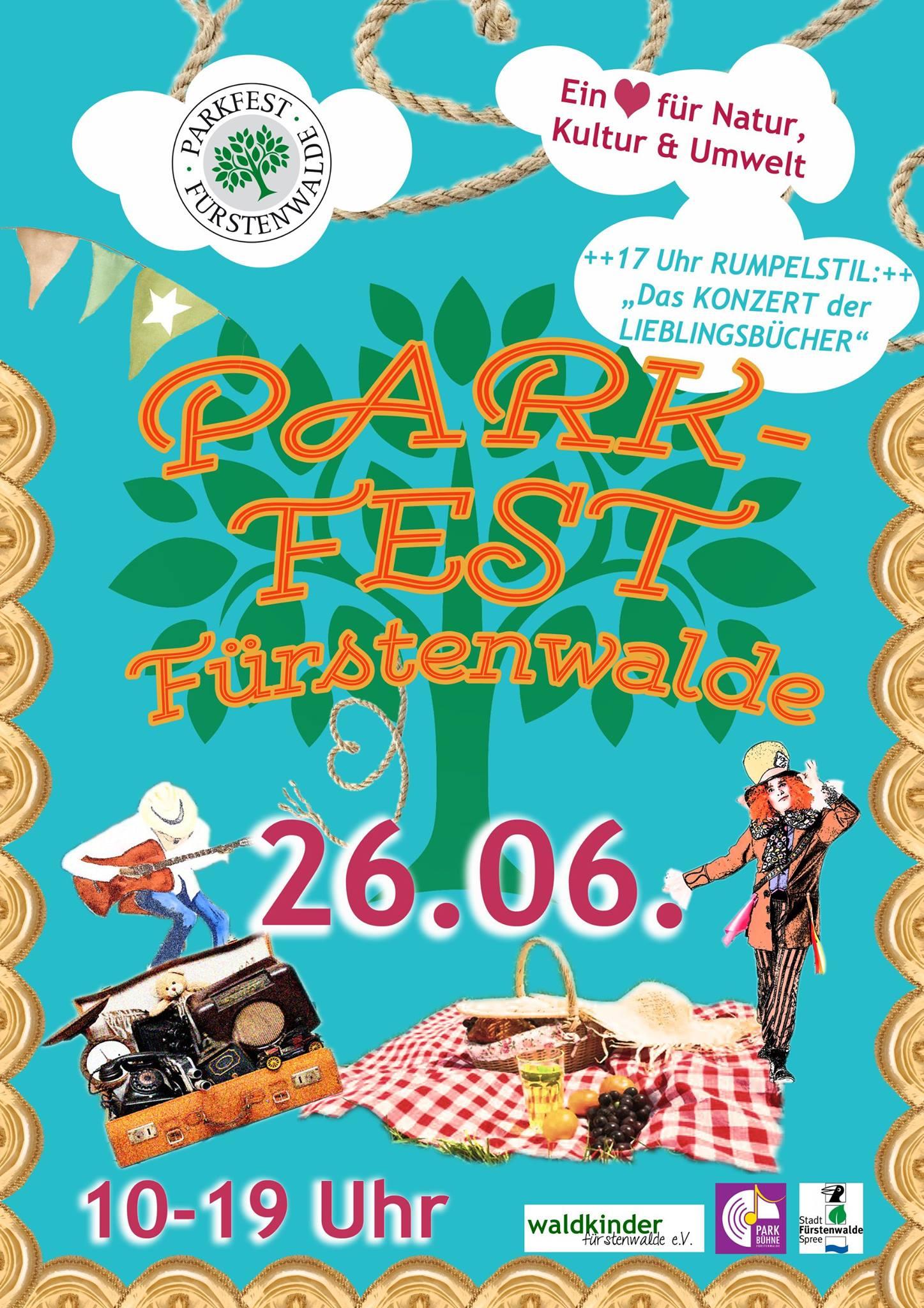 Parkfest Fürstenwalde am 26.06.2016 von 10-19 Uhr